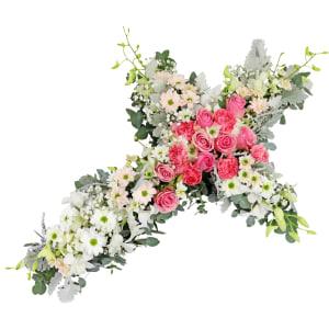 Hearts May Heal Flower Cross