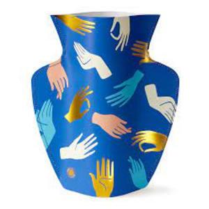 Octaevo Hamsa Blue Vase