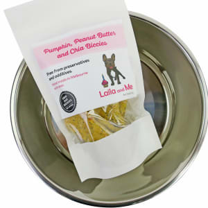 Dog Bowl & Leila Bone Treats