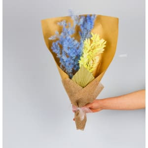 Blue Ivory Dried Bouquet