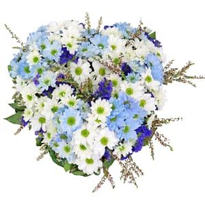 Blue Spirit Heart Wreath