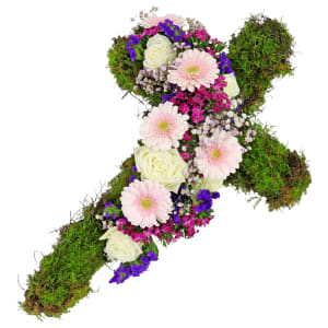 All Our Sympathy Flower Cross
