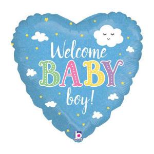 Welcome Baby Boy Heart