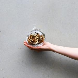 Preserved Gold Rose Orb