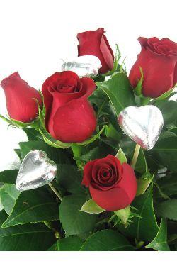 Valentine Rose and Choc box - Standard