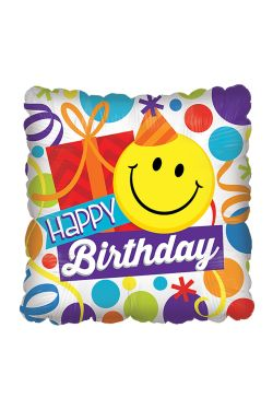 Happy Birthday - Smiley face  - Standard