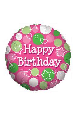 Happy Birthday - Pink Dots  - Standard