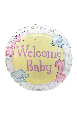 Welcome Baby Balloon - Standard