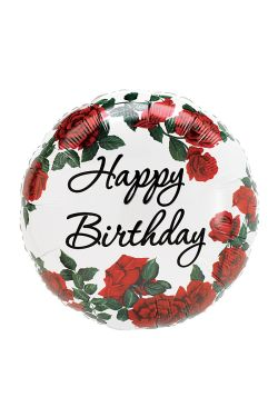Happy Birthday - Red Rose - Standard