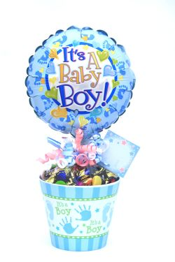 It's A Boy Lolly Pot - Standard