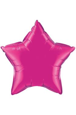 Pink Star Balloon - Standard