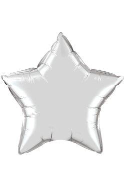 Silver Star Balloon - Standard