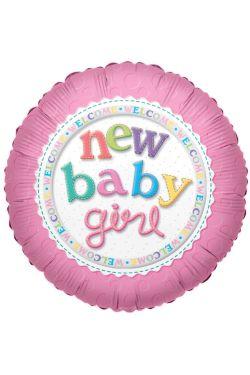 Welcome New Baby Girl - Standard