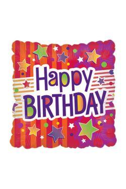 Square Happy Birthday - Standard