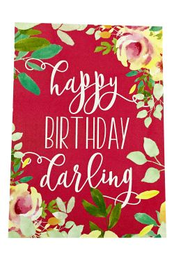 Happy Birthday Darling - Standard
