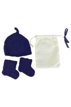 Blue Beanie & Booties - Standard
