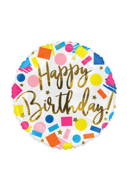Happy Birthday - Confetti - Standard