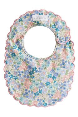 Liberty Blue Scallop Edge Bib - Standard