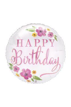 Happy Birthday - Satin - Standard
