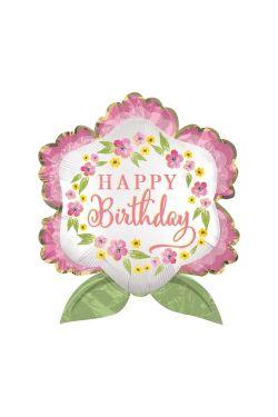 Birthday Blooms Satin 70CM - Standard