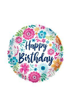 Happy Birthday Bright Flowers - Standard