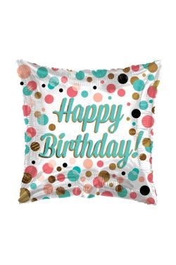 Happy Birthday Square Dots - Standard