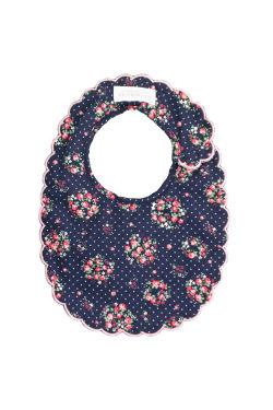 Midnight Floral Scallop Bib - Standard