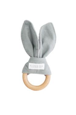 Bailey Bunny Teether - Grey - Standard