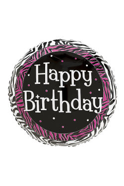 Happy Birthday - Black & Pink - Standard
