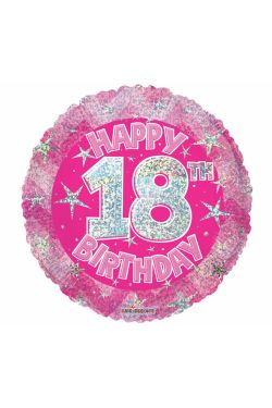 Age 18 Holographic Balloon - Standard