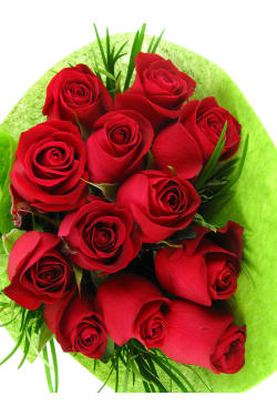 12 Red Roses - 12 Roses (One Dozen)