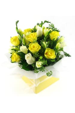 Roses and Freesias boxed - Standard