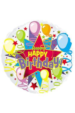 Happy Birthday - Balloons - Standard
