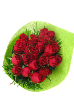 Valentine's 18 Rose Bouquet - 18 Roses