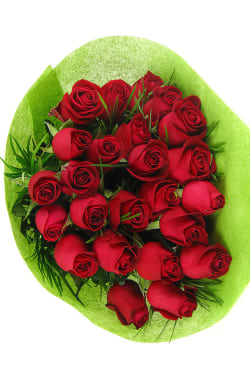 Valentine's 24 Rose Bouquet - 24 Roses (Two Dozen)