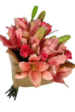 Valentine's Roses and Lilies - Standard