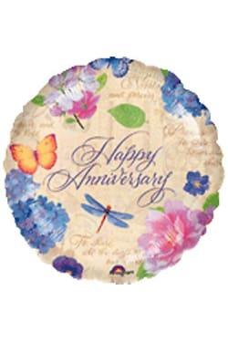 Happy Anniversary - Garden - Standard