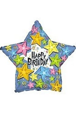 Happy Birthday - Star - Standard