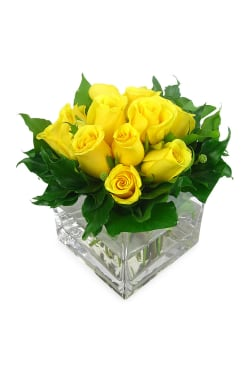 Yellow Rose Vase - Standard