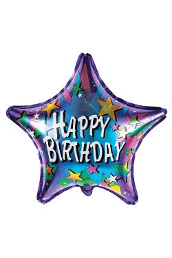 Happy Birthday Blue Star - Standard