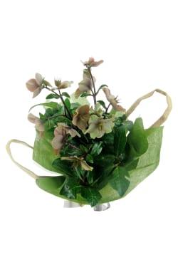 Winter Rose In Hessian Bag - Standard