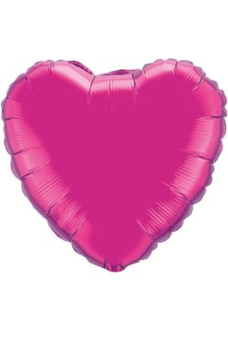 Fucia Heart Shape Balloon - Standard
