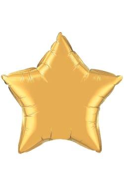 Gold Star Balloon - Standard