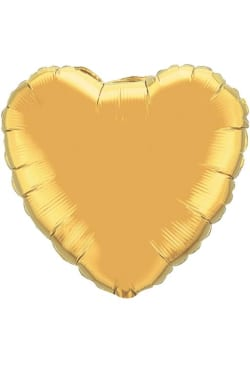 Gold heart balloon - Standard
