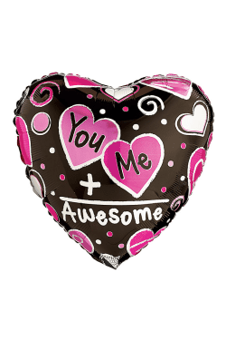 You + Me = Awesome balloon - Standard
