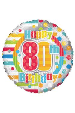 Happy 80th Birthday - Standard