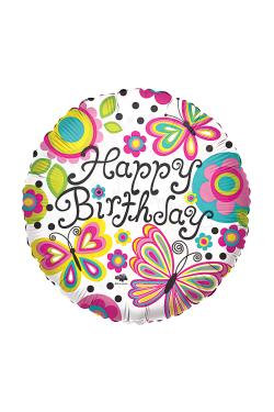 Happy Birthday - Butterflies - Standard