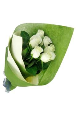 Valentine's 6 White Roses - Standard