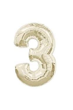White Gold Foil '3' - Standard