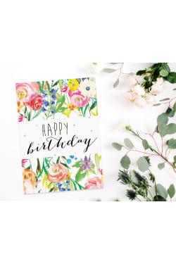 Happy Birthday - Floral - Standard